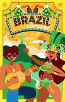 The festivity of Event Rio Carnival vector