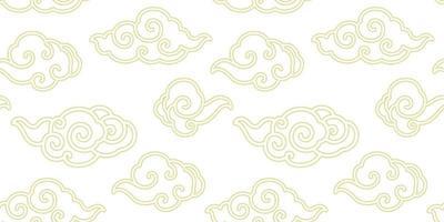 papel tapiz transparente de vector de línea de nube china