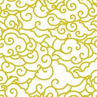 Chinese cloud wave seamless wallpaper. vector