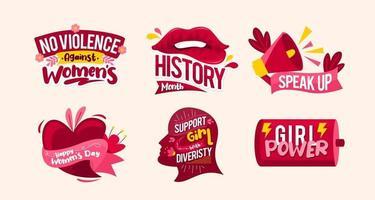Women Day Awareness Sticker vector