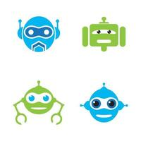 robot logo vector icono ilustración