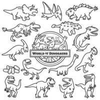 Dinosaurs character design vector set