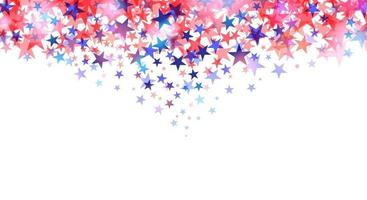 Red and blue stars isolated on white background vector