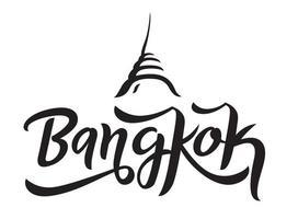 Bangkok city lettering design. vector