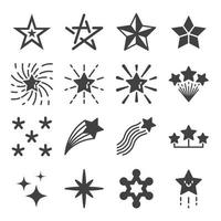 Star icons vector set