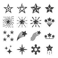 conjunto de vectores de iconos de estrellas