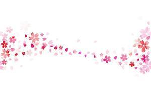 papel tapiz transparente de sakura japonés. vector
