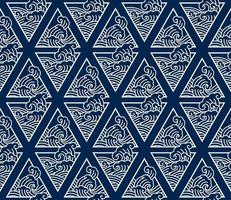 Oriental Japan wave line art seamless background vector