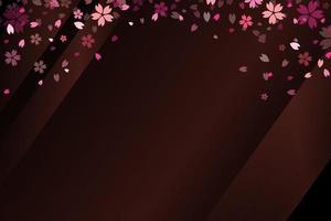 Sakura flowers background. Vector illustration.