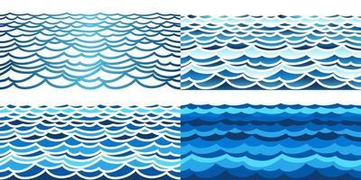 olas del mar, seamless, patrón vector