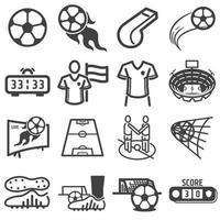 fútbol, fútbol, deportes, icono, conjunto vector