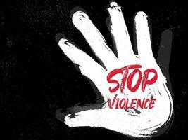 Stop violence grunge vector.