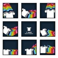 Plain t-shirt display on navy  blue background artwork vector template.