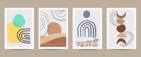 conjunto de carteles de formas retro abstractas vector