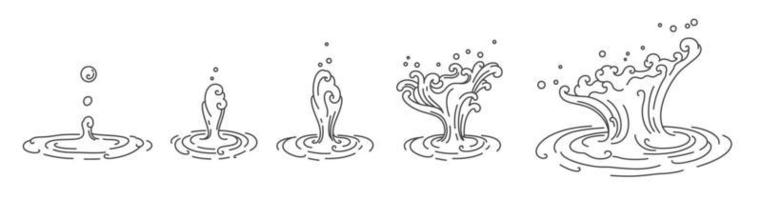Traditional oriental water droplet vector. vector