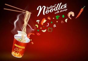 Instant cup noodles design