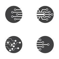 ilustración de imágenes de logotipo de tecnología