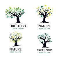 Modern set of tree logos template vector