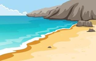 Beautiful Panorama Beach Landscape Illustration vector