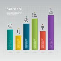diagrama de gráfico de barras para ilustración de análisis financiero vector