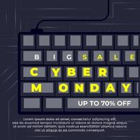 Best sale Cyber Monday banner vector