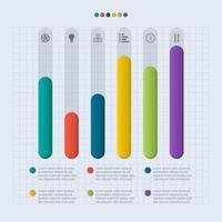 Bar Chart Diagram For Financial Analysis Illustration vector