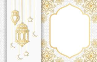 Islamic Arabic Lantern for Ramadan Kareem Eid Mubarak Background vector