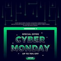 Cyber Monday concept banner vector