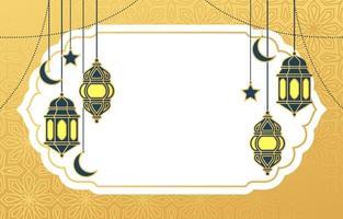 Islamic Arabic Lantern for Ramadan Kareem Eid Mubarak Background vector
