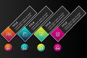 4 Steps modern business infographic template illustration