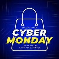 Technology Cyber Monday template banner vector