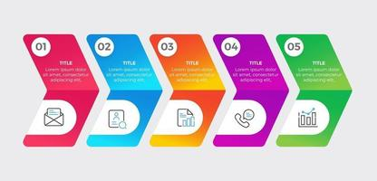 Infographics with 5 steps and options