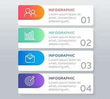 Infographic template with 4 steps or options