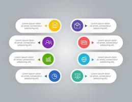 8 steps business infographic elements presentation