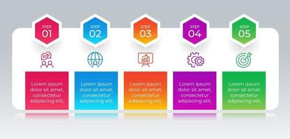 Infographic element with 5 steps or options