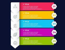 5 steps business infographic elements presentation