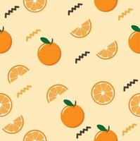 oranges whole and sliced seamless pattern