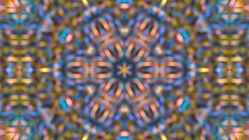 fundo caleidoscópio multicolorido abstrato video