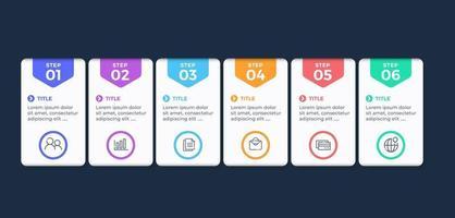 infografías con opciones de pasos.