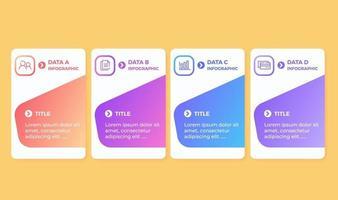 plantilla de diseño de infografía vectorial con 4 pasos de opciones