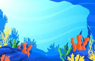 escena submarina con ilustración de arrecifes de coral vector