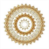 patrón de ornamento redondo de oro mandala. vector