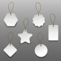 Set of different shape price tags isolated vector