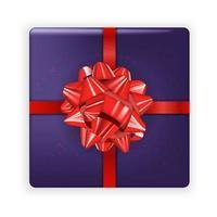imagen realista. colorida caja festiva con lazo. ilustración vectorial. vector