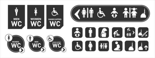 conjunto de concepto de señalización del centro comercial del aeropuerto vector
