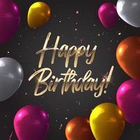 Fondo de globo 3d realista para fiesta, vacaciones, cumpleaños, tarjeta de promoción, cartel. ilustración vectorial eps10