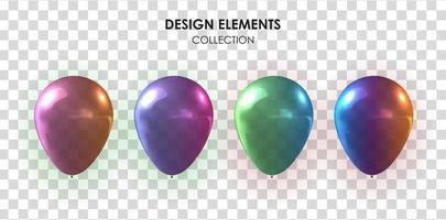 colección realista de globos 3d para fiesta, vacaciones.