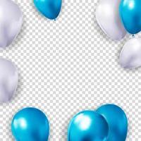 Fondo de globo 3d realista para fiesta, vacaciones, cumpleaños, tarjeta de promoción, cartel. ilustración vectorial vector