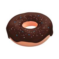 Realistic 3d sweet tasty donut. Vector illustration