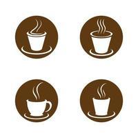 imágenes de taza de cafe logo vector